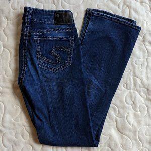 Silver size 27W/33L Suki Mid slim boot cut jeans
